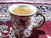 Cup coffee tea yellow white stock images