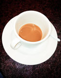 Cup of coffee. Teasty sweet this morning work Royalty Free Stock Photos