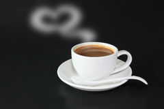 A cup of coffee to you with love Royalty Free Stock Images