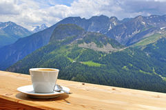 Cup of coffee in the top Stock Photo