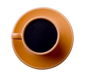 Cup of Coffee Top View Stock Images