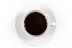 Cup of coffee, top view Stock Photos