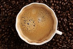 Cup of coffee. Top view Stock Photo