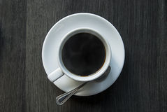 A cup of coffee from top Royalty Free Stock Photography