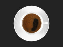 Cup of coffee topview Royalty Free Stock Photography