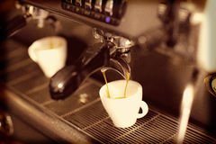 Cup of coffee. A cup of coffee under retro lighting Royalty Free Stock Photography