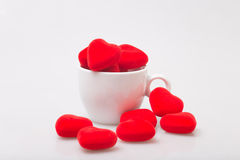 Cup of coffee with  valentine Royalty Free Stock Photography