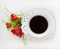 Cup of coffee, valentine Royalty Free Stock Photo