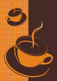 Cup of coffee,vector. Vector cup af coffee on a background,vector illustration Stock Image