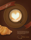 Cup of coffee vector Royalty Free Stock Images