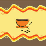 Cup of coffee - vector illustration Stock Images