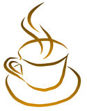 Cup of Coffee Vector Royalty Free Stock Photography