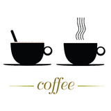 Cup of coffee vector illustration on a white Royalty Free Stock Photos