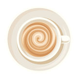 Cup of coffee. Vector illustration. Royalty Free Stock Image