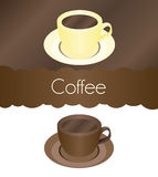 Cup of coffee vector mug. Illustration Royalty Free Stock Photography