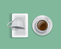 Cup of coffee vector. White Cup of coffee vector Royalty Free Illustration
