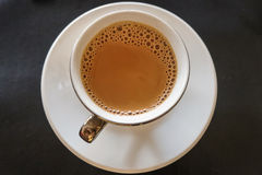 Cup of coffee. View from top Stock Images