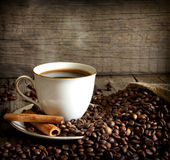 Cup of coffee vintage still life stock images