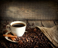 Cup of coffee vintage still life Royalty Free Stock Photos