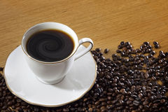 Cup of coffee vortex concept Stock Photography