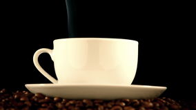 Cup of coffee stock video footage