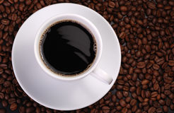 Cup of coffee with wave Royalty Free Stock Images
