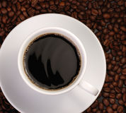 Cup of coffee with wave Stock Photos