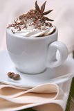 Cup of coffee with whipped cream Royalty Free Stock Images