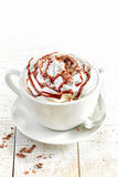Cup of coffee with whipped cream Royalty Free Stock Photo