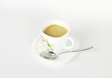 A cup of coffee on white Royalty Free Stock Image