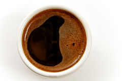 A cup of coffee on a white background Stock Images