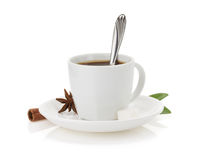 Cup of coffee on white Royalty Free Stock Photos