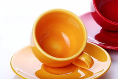 Cup of coffee. On white background Royalty Free Stock Photography