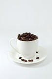 Cup of coffee on white background. Cup of coffee, on white background Royalty Free Stock Photo