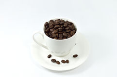 Cup of coffee. On white background Royalty Free Stock Photos