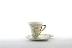 Cup. A cup of coffee on a white background Royalty Free Stock Images