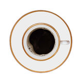 Cup of coffee. On a white background Stock Photography