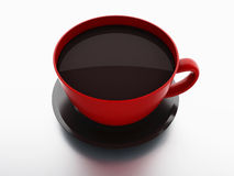 Cup of coffee on white background Royalty Free Stock Photography