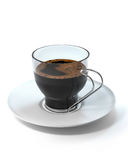 Cup of coffee white background Stock Images
