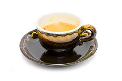 Cup of coffee on a white background Stock Photo