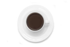 Cup of coffee on white background Stock Photography