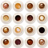 Italian coffee on white background. Cup of coffee on white background Stock Photo