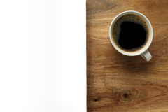 Cup of coffee with white space Royalty Free Stock Photos
