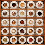 Italian coffee on wood background. Cup of coffee on wood background Royalty Free Stock Photos