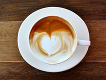 Cup of coffee. On wooden Royalty Free Stock Photo