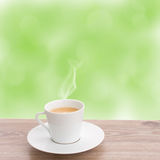 Cup of coffee in garden Stock Photography