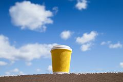 Cup of coffee take away royalty free stock photography