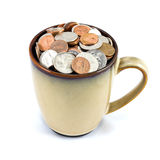 Cup of Coins Royalty Free Stock Image