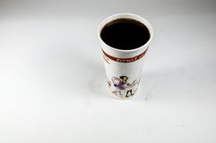 Cup of cola. The cola in the cup Royalty Free Stock Image