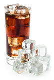 Cup of cola and ice Royalty Free Stock Photography